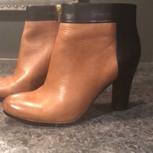 Tan and black booties size 8.5